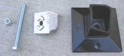 Aluminum Fencing Floor Flange For Ultra Aluminum Posts