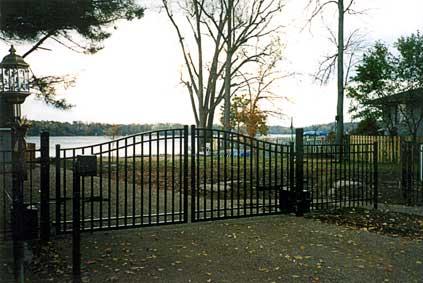 Aluminum Rolled Estate Arched Aluminum Fence Gates