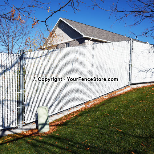 How to install chain link fence on eneven ground - bias cut