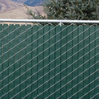Vinyl Wood - Chain Link Fence