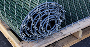 Noodle Link Lite Chain Link Fence With Pre Inserted Slats