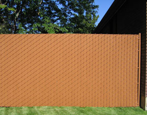 Vinyl Wood Privacy Fence With Chain Link Slats