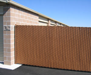 vinyl wood chain link fence