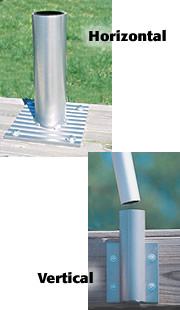 Deck Dock Mount For The Telescoping Flagpoles