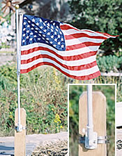 Deluxe Flag Kit With Pole By Sunsetter