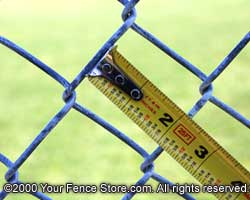 How to measure chain link fence mesh