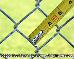 Chain Link Fence Mesh Size