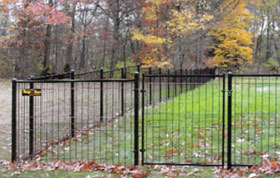 Jerith Fence Gate for Patriot Ornamental Black Wire Fence