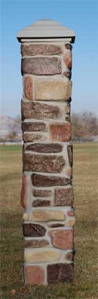 Pre Formed Pillar Reproduction Rock Post