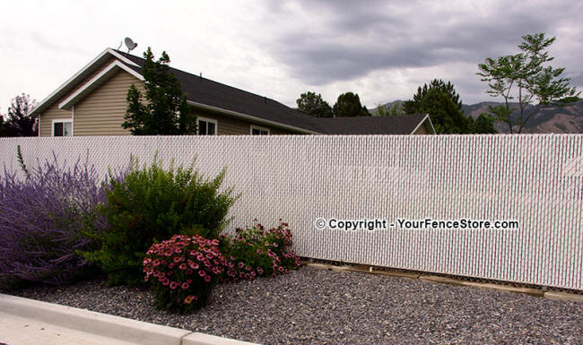 Bottom Lock Fence Slat For Privacy Chain Link Fences
