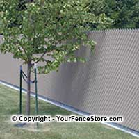 Privacy fence slats for existing chain link fences