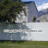 Privacy Link - includes slats and the chain link fence fabric