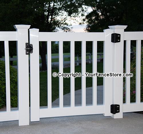 gate kits for vinyl deck and porch railing. Black Bedroom Furniture Sets. Home Design Ideas