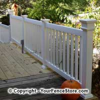 Deck Vinyl Railing Balusters Spindles